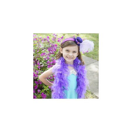 Zucker Feather Products Chandelle Feather Boas Princess w/Lurex - 1YD - Lavender - Opal Lurex - Opal Nyc Halloween