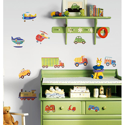 RoomMates - Transportation Peel & Stick Wall Decals