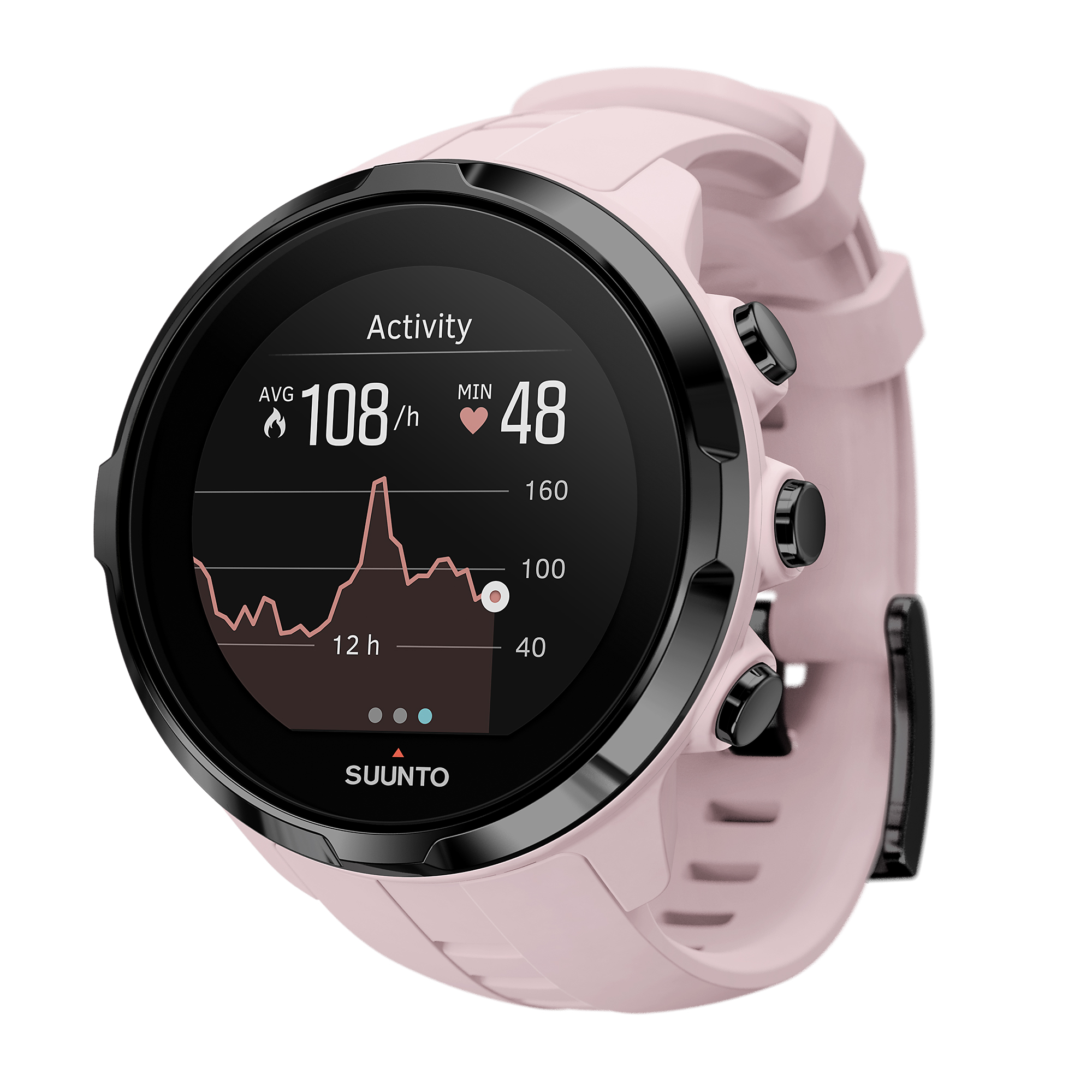 Suunto Spartan Sport Wrist HR Watch, Pink by Suunto