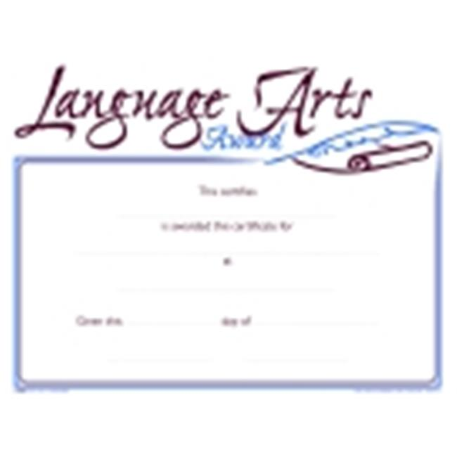 School Specialty Raised Print Language Arts Recognition Nuline Award, Pack - 25