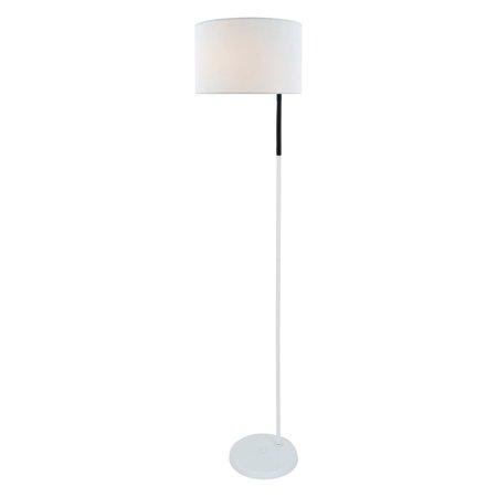 Lite Source Gillian 1-Light Floor Lamp, White Finish with White Fabric Shade