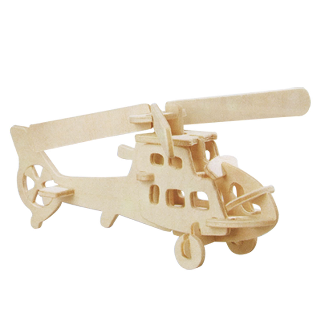 Self-assemble Fighterplane Puzzle 3D Wood Model Kit Toy