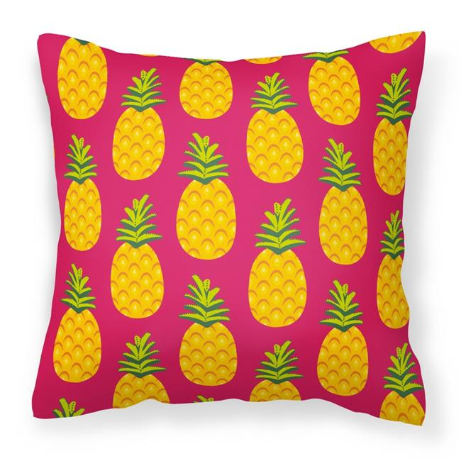 Carolines Treasures BB40PW40 Pineapples On Pink Fabric Classy Pineapple Decorative Pillows