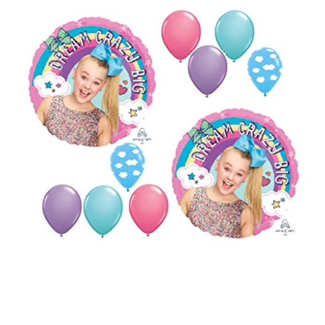 jojo siwa party decorations dream crazy big balloons 10 count mylar and latex