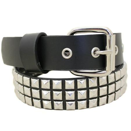 Entourage Skinny Studded Junior Size Fashion Belt - Black / Silver - Size Xs