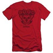 CBGB Moth Skull Mens Slim Fit Shirt