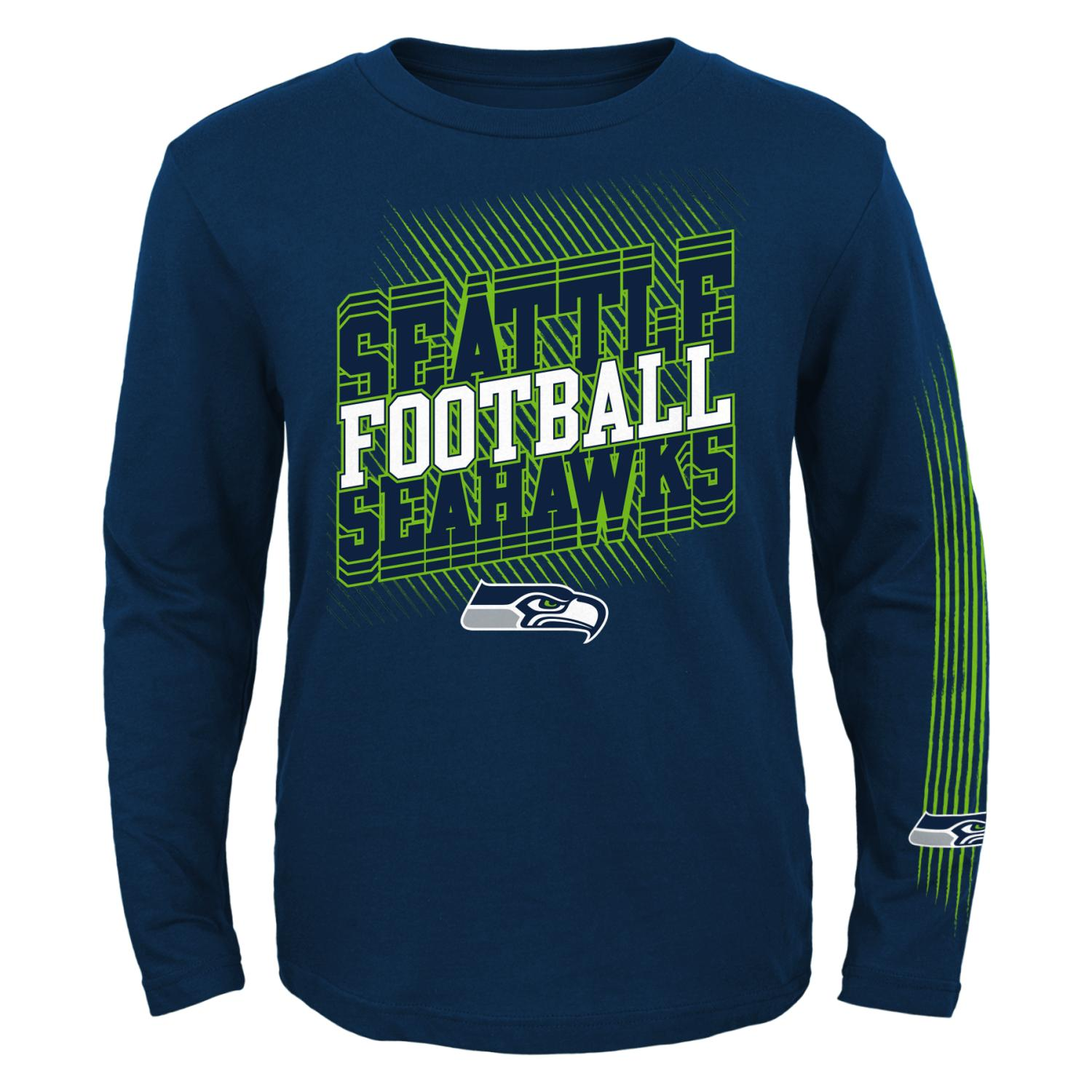 "Seattle Seahawks Youth NFL ""Frequency"" Long Sleeve T-Shirt"