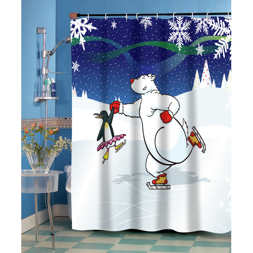 """Ice Dancers"" Fabric Shower Curtain"