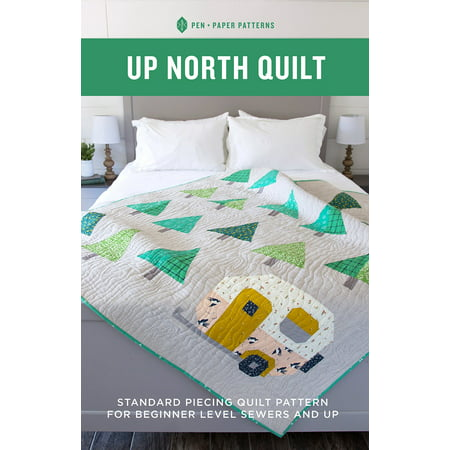 Up North Quilt Pattern: Standard Piecing Quilt Pattern for Beginner Level Sewers and - Halloween Quilt Patterns Pinterest