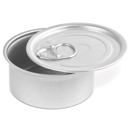 Comatec Round Tin with Pull Tab Lid - 4oz Capacity 100 (Small Round Tin)