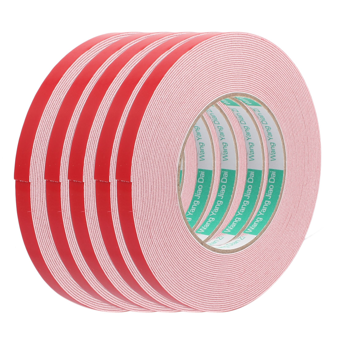 5pcs 10M 10mm x 1mm Double-side Adhesive Shockproof Sponge EVA Tape Red White