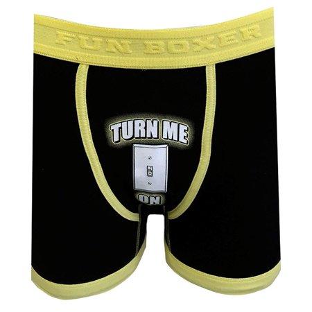 7bed41f1503 Fun Boxers Mens Fun Prints Crotch Print Boxer Briefs, Turn Me On, TurnMeOn,