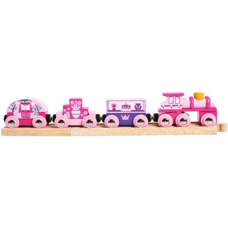 BigJigs Toys Wooden Princess Train (Bigjigs Rail Magical Train Set And Table)