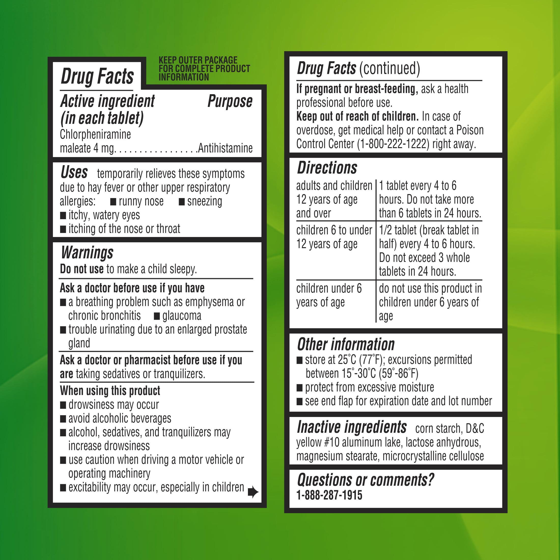 Equate chlortabs chlorpheniramine antihistamine tablets 4 mg 100 equate chlortabs chlorpheniramine antihistamine tablets 4 mg 100 ct walmart nvjuhfo Image collections