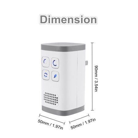 ASEWUN 120mg/h Plug-In AirPurifier AirCleaner Mini Ozone Generator Negative Ion Generator for Odors Eliminating Travelling Outdoor Room Pets - image 6 de 9