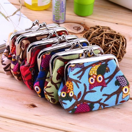 Multi-color Owl Design Coin Money Bag Purse Wallet Canvas For Women Girl Lady - image 2 of 8