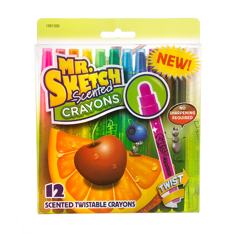 Mr. Sketch Scented Crayons: Twistable, 12 Colors