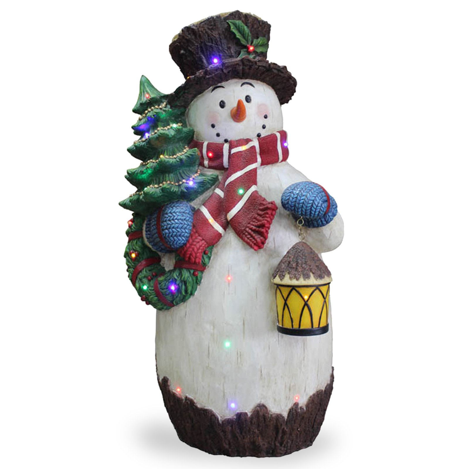 National Tree Co. Snowman Holding Tree Christmas Decoration