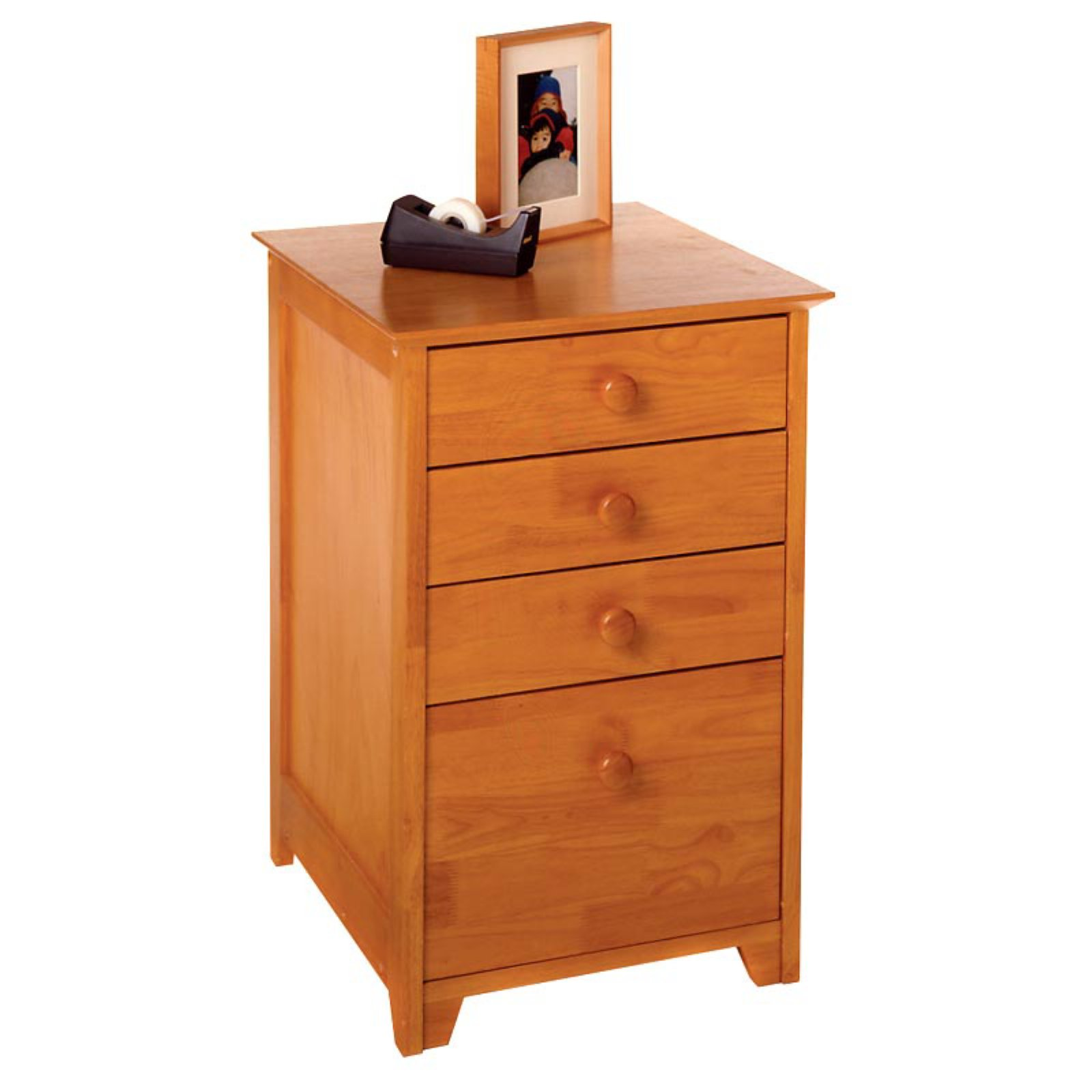 Winsome 2 Drawer Vertical Wooden File Cabinet, Honey