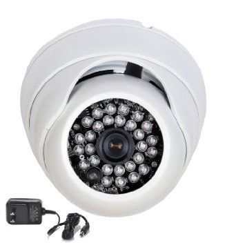 VideoSecu Wide Angle Security Camera Vandal Proof IR Day Night Built-in 1/3