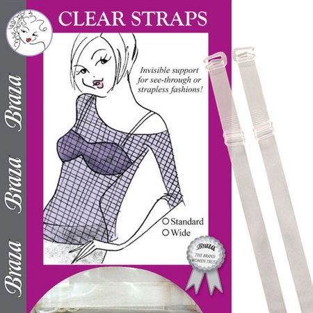 Braza Narrow Clear Bra Straps