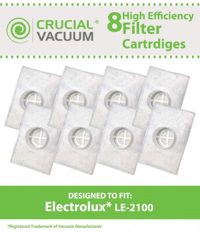 Designed /& Engineered By Crucial Vacuum 8 Electrolux LE-2100 Allergen Filters Cartridge Designed To Fit Electrolux Compare To Part # LE-2100 Aerus LE-2100 Canisters /& AP100 Series Vacuums