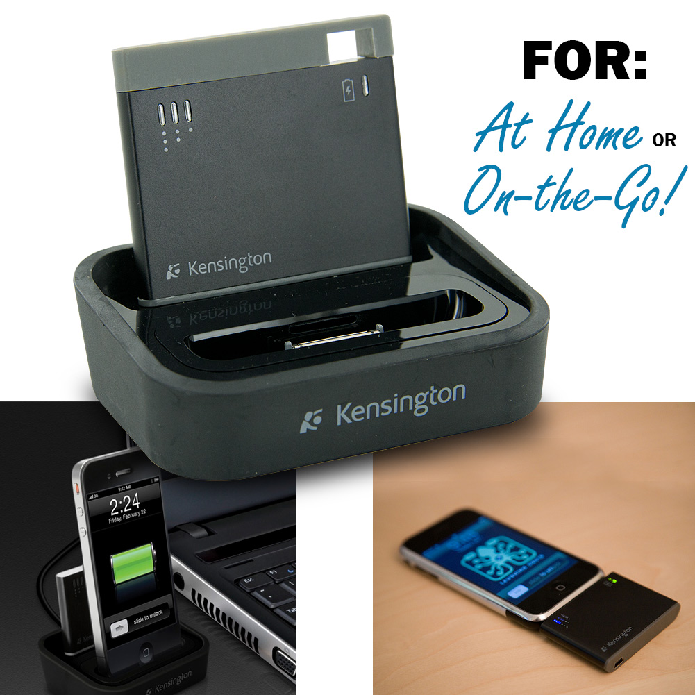 Kensington K39265US Charging Dock with Mini Battery Pack for iPhone and iPod
