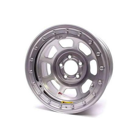 Bassett D Hole Beadlock 15X8  5X5 00 Silver Wheel P N 58D52isl