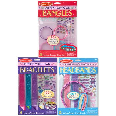 Melissa & Doug Design-Your-Own Jewelry-Making Kits - Bangles, Headbands, and Bracelets - Diy Headband Kit