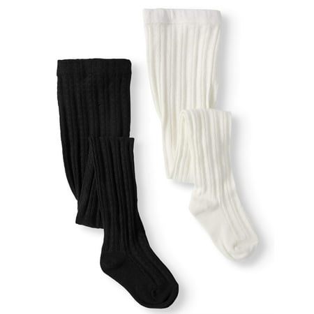 Girls' Cable Knit Tights, 2 Pairs (Beautiful Girls In Tights)