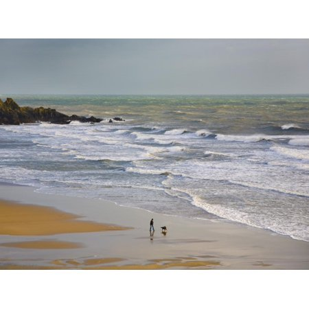 Bunmahon Strand, the Copper Coast, County Waterford, Ireland Print Wall Art