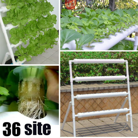 Hydroponic Site Grow Kit System 36 Planting Sites Garden Plant Vegetable +