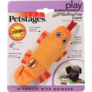 Petstages 066747 Stuffing Free Lizard Dog Toy - Assorted, Petite