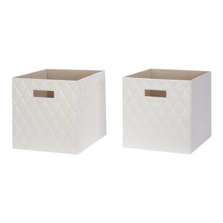 Better Homes & Gardens Faux Leather Storage Bin, 2-Pack, Multiple Colors ()