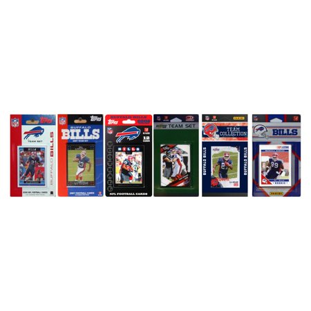 NFL Buffalo Bills 6 Different Licensed Trading Card Team Sets