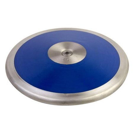 1.0 kg Lo Spin Competition ABS Plastic Discus, Royal Blue & (Royal Red Discus)