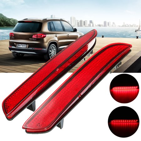2pcs 12V Rear Red LED Bumper Reflector Tail Brake Running Fog Light Lamp For Honda CR-Z CR-V CRZ CRV  US,red