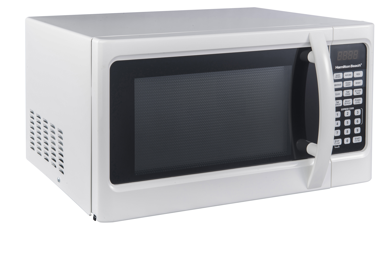 Hamilton beach 11 cu ft digital white microwave oven walmart sciox Images