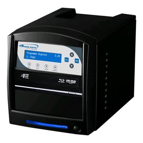 Vinpower Digital SharkBluCP-S1T-BK SharkBluCP 1 Target Blu-ray DVD CD Duplicator Tower with 500GB Hard Drive + USB 3.0 + CopyConnect (Supports BD CopyProtection)