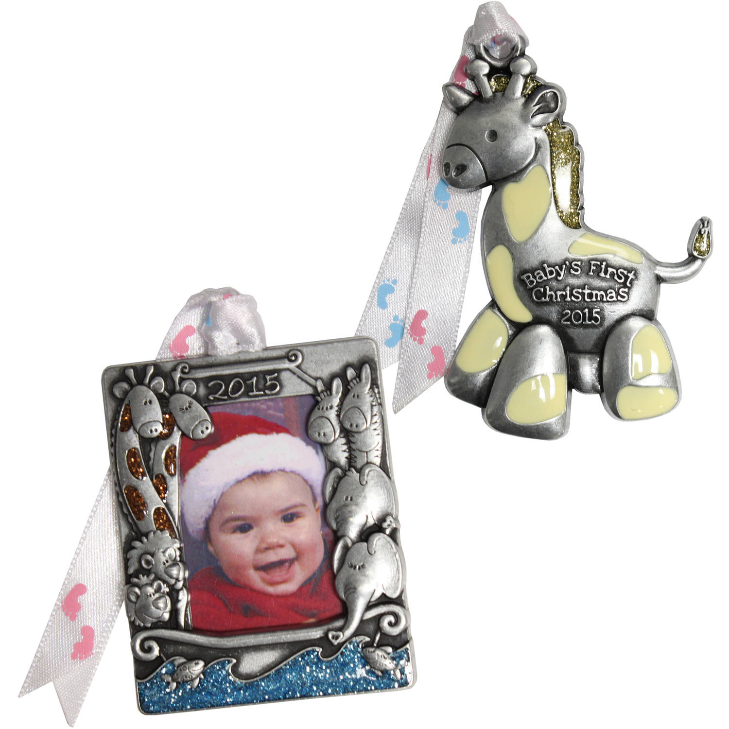 Personalized Gloria Duchin Noah's Ark Baby's First Christmas Ornament Set