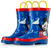 Disney Mickey Mouse Blue Rubber Rain Boots - Size 11 toddler