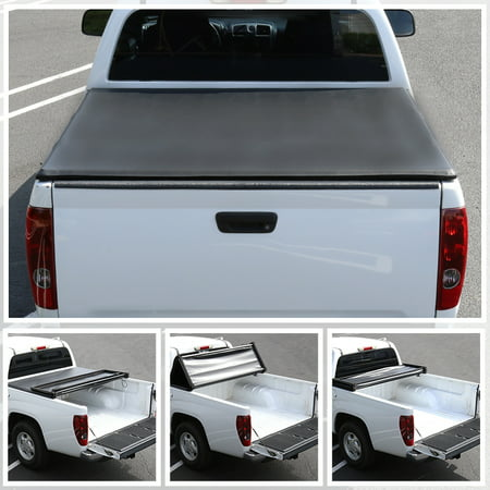 Cab Folding Bakflip Tonneau Cover - Spec-D Tuning For 2005-2013 Nissan Frontier Navara D40 King Cab 5Ft Tri-Fold Tonneau Cover 2005 2006 2007 2008 2009 2010 2011 2012 2013