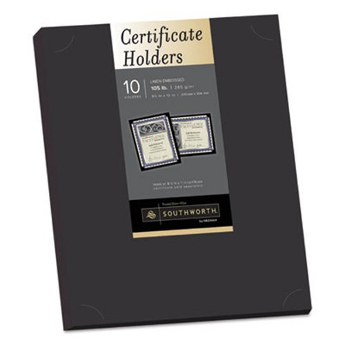 2pk Southworth Certificate Holder Black Linen 10 Cert Holders Walmart Com Walmart Com