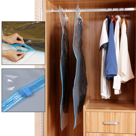 4 Pcs Vacuum Seal Hanging Bag Clothing Storage Bags Compression Garment