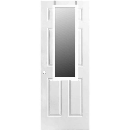 home basics over the door mirror white. Black Bedroom Furniture Sets. Home Design Ideas