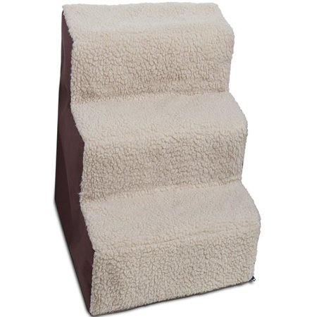 Paws & Pals Dog and Cat Pet Stairs 3 Steps, Up to 200 lb. capacity