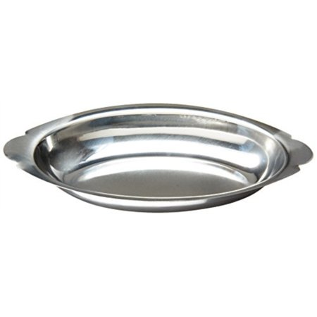 Oval Stainless Steel Gratin Dish (Winco ADO-15 Stainless Steel Oval Au Gratin Dish, 15-Ounce )