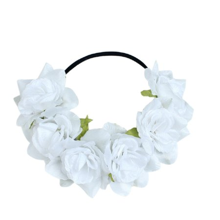 Large Rose Flower Forehead Hair Headband Hair Crown Summer Festival -