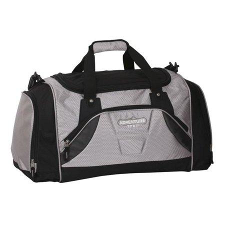 Bag Werks Traveler - Travelers Polo & Racquet Club PR-47324-010 Adventure 24 in. Multi-Pocket Weekender Duffel Bag, Gray