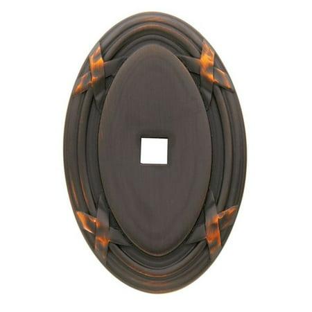 1.75 Cabinet Knob Backplate (Baldwin  4619  Backplates  Edinburgh  Cabinet Hardware  Knob  ;Venetian Bronze )